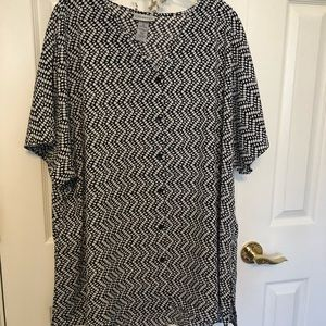 Women's Top 2X Plus Size Blouse Tunic  B1-1575